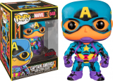 Marvel POP! - figúrka Black Light Captain America 9 cm