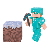 Minecraft - figúrka Alex with Diamond Armor 8 cm