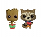 Guardians of the Galaxy - mini bobble head wobbler XMAS Groot & Rocket 9 cm
