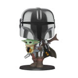 The Mandalorian POP! - figúrka The Mandalorian holding The Child 25 cm