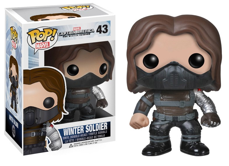 Marvel Comics POP! - bobble head Winter Soldier Unmasked 10 cm