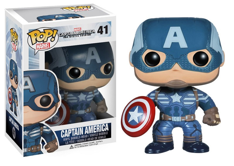 Captain America Winter Soldier POP! - bobble head Captain America 10 cm
