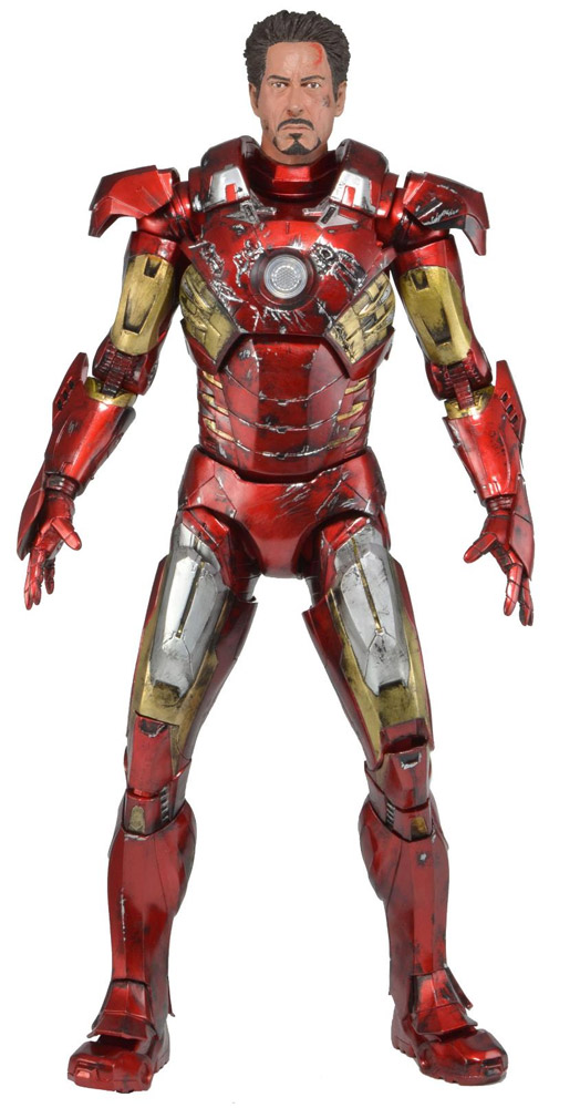 The Avengers - figúrka Battle Damaged Iron Man Mark VII 46 cm