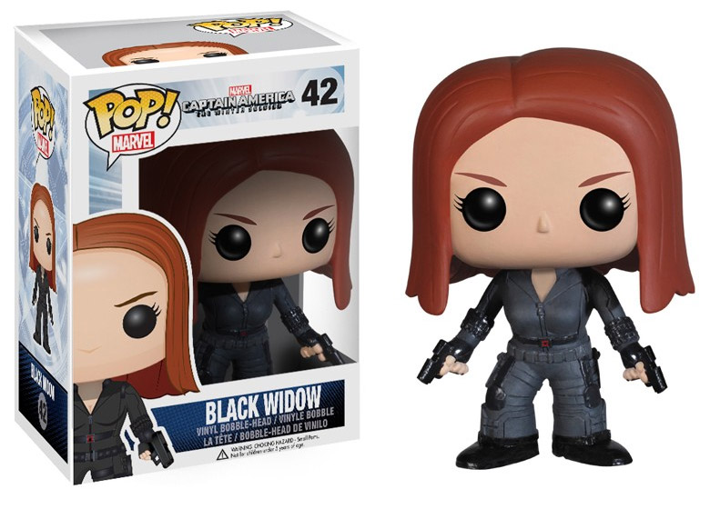 Captain America The Winter Soldier POP! - bobble head Black Widow 10 cm