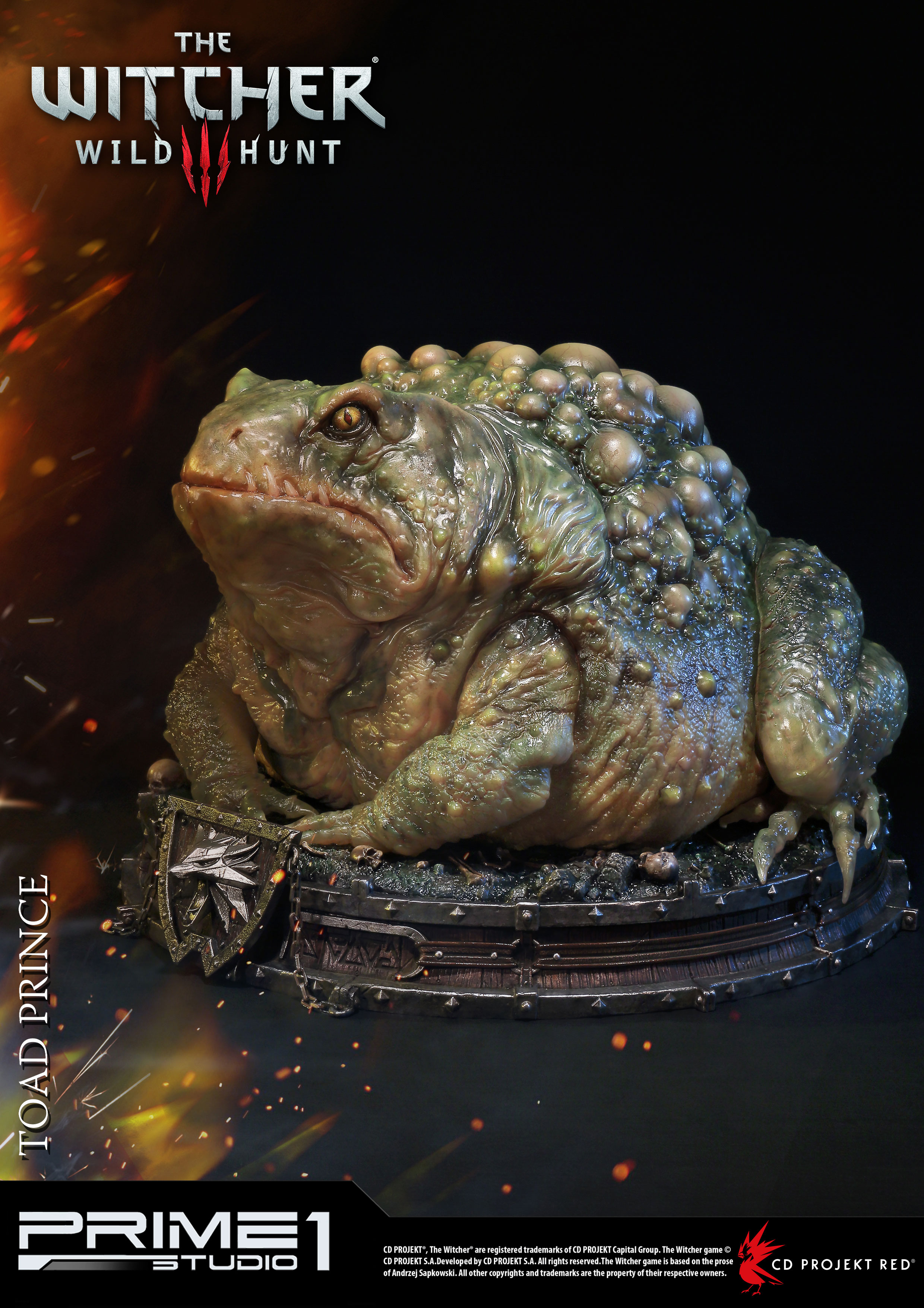 Witcher 3 Wild Hunt - socha Toad Prince of Oxenfurt 34 cm