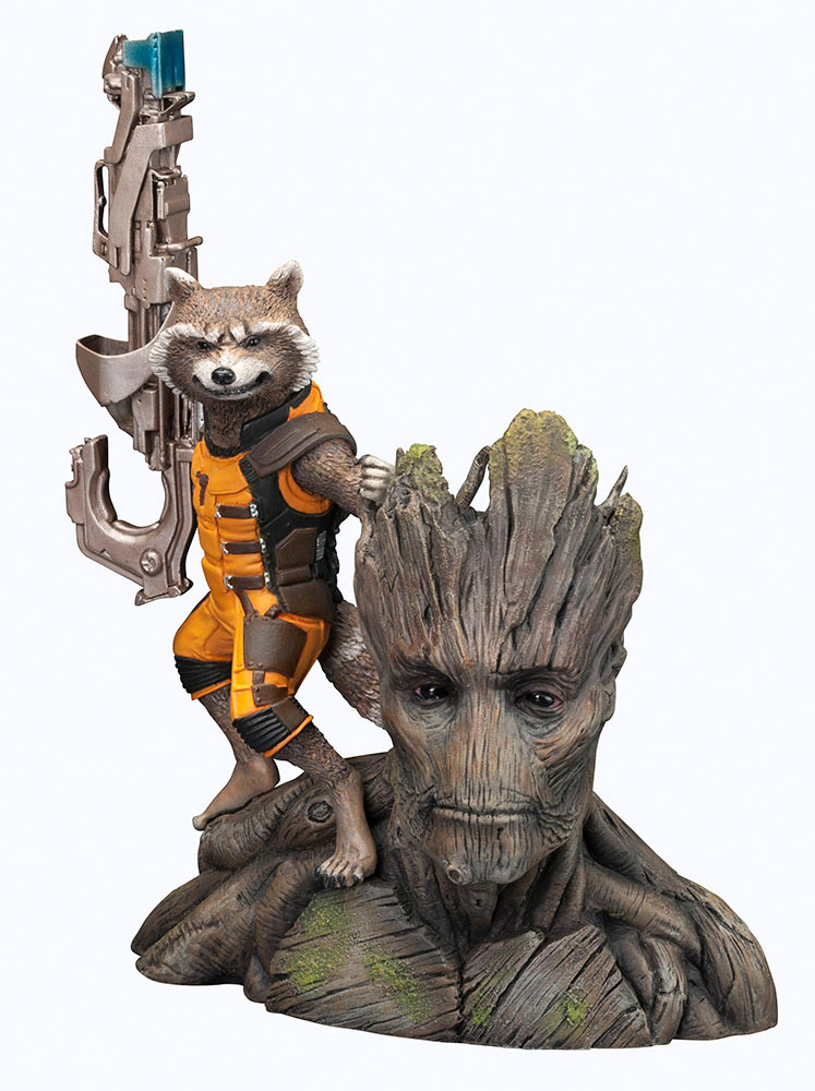 Guardians of the Galaxy ARTFX+ - soška Rocket Raccoon 14 cm