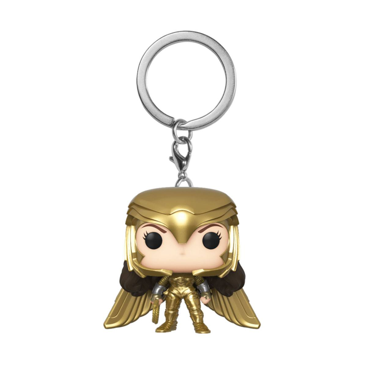 Wonder Woman 1984 POP! - vinylová kľúčenka Wonder Woman (Gold Wing) 4 cm