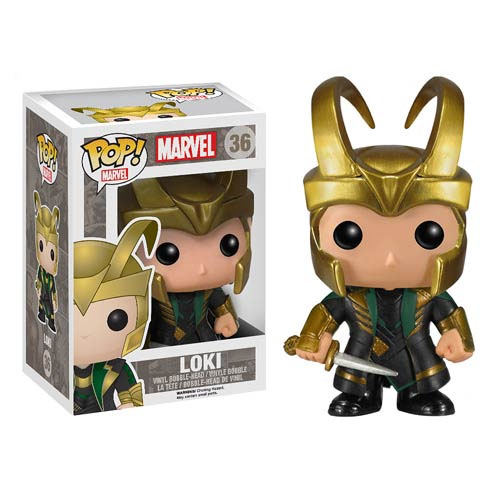 Thor 2 POP! - bobble head Loki with Helmet 10 cm