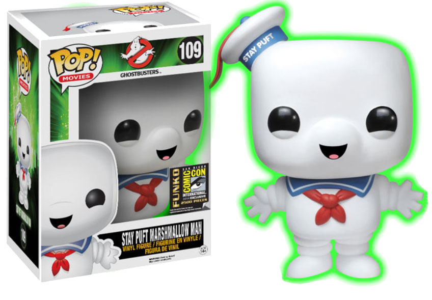 Ghostbusters POP! - figúrka Puft GITD SDCC Exclusive 15 cm