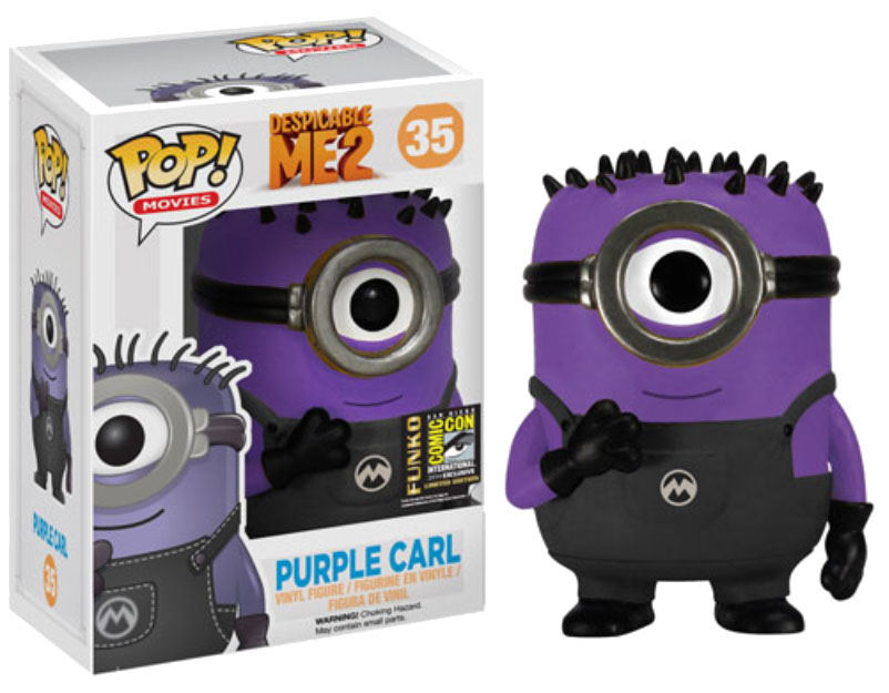Despicable Me 2 POP! - figúrka Purple Carl SDCC Exclusive 10 cm