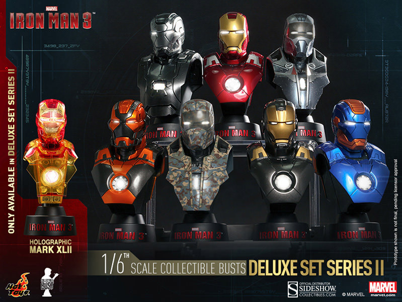 Iron Man 3 - busty Deluxe Set Series 2 (8) 11 cm