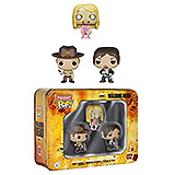 The Walking Dead Pocket POP! - figúrky Daryl, Rick, Teddy Bear Girl 4 cm