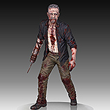 The Walking Dead - socha Merle Dixon Walker 41 cm