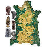 Game of Thrones - replika Robb Stark´s Map of Westeros with Map Markers