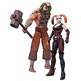 Batman Arkham City - figúrky Mr. Hammer & Harley Quinn 17 cm