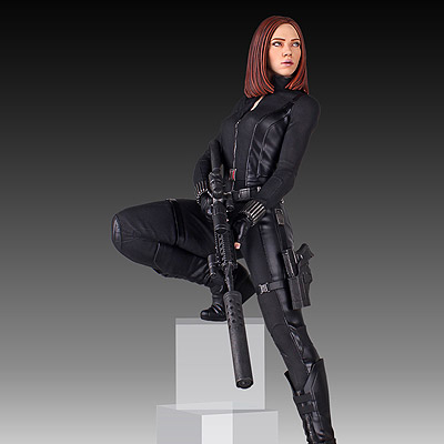 Captain America The Winter Soldier - soška Black Widow 46 cm