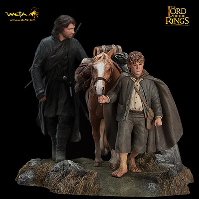 Lord of the Rings - soška Fellowship of the Ring Set 3 14 cm