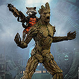 Guardians of the Galaxy - figúrka Rocket 16 cm & Groot 39 cm