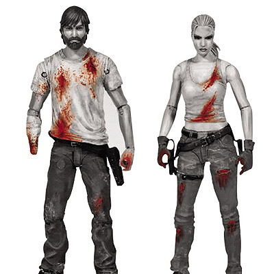 The Walking Dead Comic - figúrka Rick & Andrea PX 15 cm