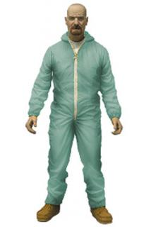 Breaking Bad - figúrka Walter White in Blue Hazmat Suit Previews Exclusive 15 cm