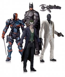 Batman Arkham Origins - figúrky Batman, Deathstroke, Black Mask, Joker 17 cm