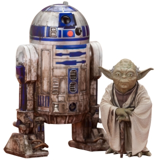 Star Wars Episode V ARTFX+ - sošky Yoda & R2-D2 Dagobah Version 10 cm