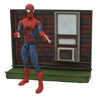 The Amazing Spider-Man 2 Marvel Select - figúrka Spider-Man with Wall Base 18 cm