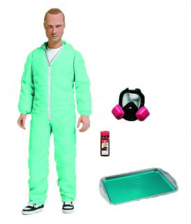Breaking Bad - figúrka Jesse Pinkman Blue Hazmat Suit Previews Exclusive 15 cm