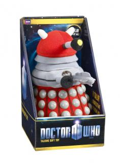 Doctor Who - plyšová figúrka Red Dalek with sound 23 cm