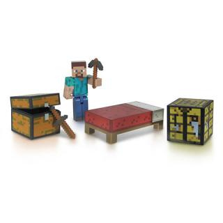 Minecraft - figúrka Survival Pack Core Player Steve 8 cm