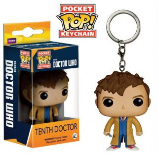 Doctor Who POP! - vinylová kľúčenka 10th Doctor 4 cm