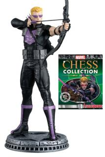 Marvel Chess Collection - figúrka a časopis #19 Hawkeye (White Pawn)
