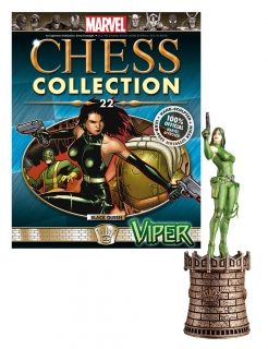 Marvel Chess Collection - figúrka a časopis #22 Viper (Black Queen)