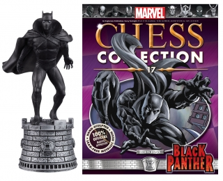 Marvel Chess Collection - figúrka a časopis #17 Black Panther (White Rook)