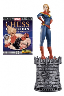 Marvel Chess Collection - figúrka a časopis #14 Captain Marvel (White Queen)