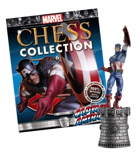 Marvel Chess Collection - figúrka a časopis  #06 Captain America (White King)