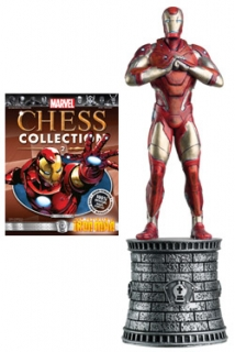 Marvel Chess Collection - figúrka a časopis  #02 Iron Man (White Bishop)
