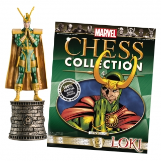 Marvel Chess Collection - figúrka a časopis  #04 Loki (Black Bishop)