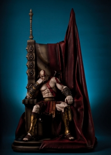 God of War - socha Kratos on Throne 74 cm