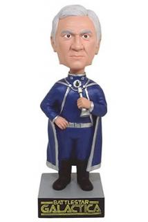 Battlestar Galactica - bobble head Commander Adama 18 cm