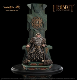 The Hobbit An Unexpected Journey - socha King Thror on Throne 46 cm