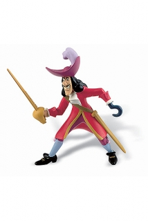 Peter Pan - figúrka Captain Hook 10 cm
