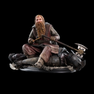 Lord of the Rings - socha Gimli The Dwarf On Uruk-Hai 43 11 cm