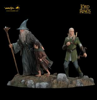 Lord of the Rings - soška Fellowship of the Ring Set 1 14 cm