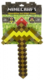 Minecraft - replika 2-v-1 Transforming Sword/Pickaxe