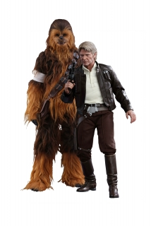 Star Wars Episode VII  - figúrky Han Solo & Chewbacca 30-36 cm