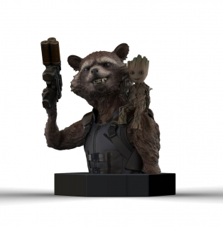 Guardians of the Galaxy Vol. 2 - busta Rocket Raccoon & Groot 16 cm