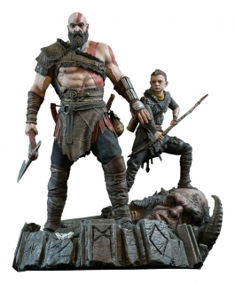 God of War (2018) - socha Kratos & Atreus 38 cm