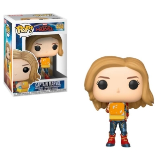 Captain Marvel POP! - bobble head Captain Marvel Lunch Box 9 cm