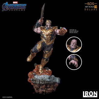 Avengers: Endgame - socha BDS Art Scale Thanos Deluxe Version 36 cm